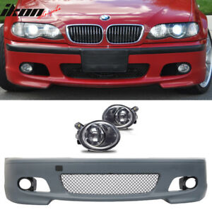 Details About Fits 01 06 Bmw E46 3 Series Mt Msport Front Bumper Foglight Cover Fog Light
