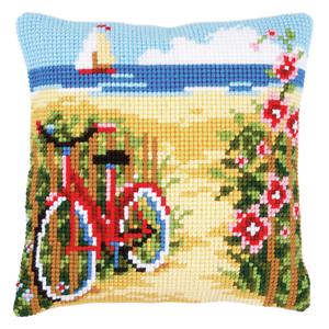 At The Beach Vervaco Cross Stitch Kit Cushion Needlecraft Kits