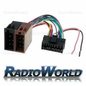 s l300 sony 16 pin car stereo radio iso wiring harness connector adaptor  at alyssarenee.co