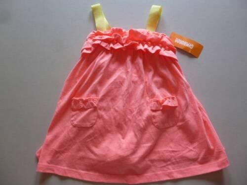 Gymboree Sunny Citrus Sun Dress Neon Coral//Yellow w//Ruffle 18-24 mos  4T NEW