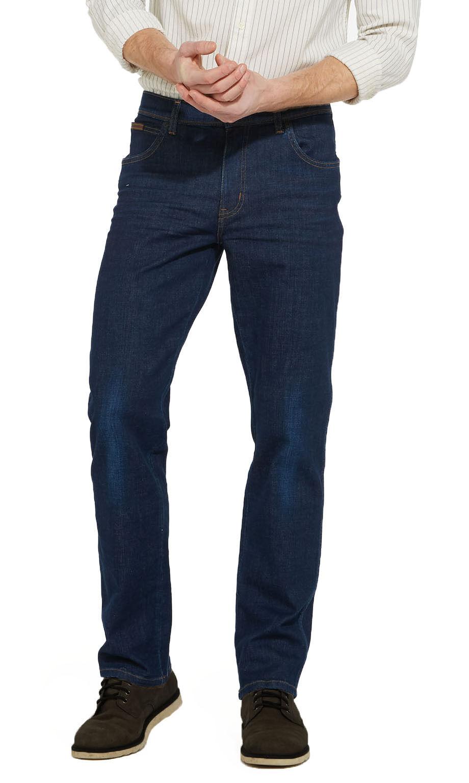 Wrangler Texas Stretch Jeans New Men's Regular Dark bluee Nightfall Faded Denim