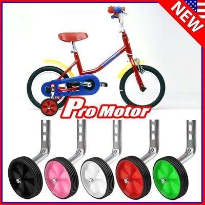 Universal Bicycle Training Wheels Kids Bike Side Safe Stabilizer Support W