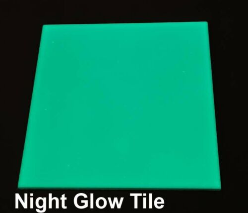 4x SUBLIMATION ink Ceramic Night Glow BLANK TILES 152X152mm for heat press
