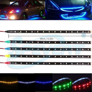 30cm-Tira-flexible-Luz-LED-3528-SMD-Impermeable-Decoracion-De-Coches-Motors-12V