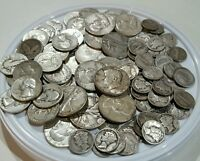 3 OZ 90% PURE SILVER US COINS ALL PRE-1965 MIXED LOT HALF DOLLARS QUARTERS DIMES