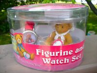 Cherished Teddy Figurine & Watch Set-1999, NIP - Enesco