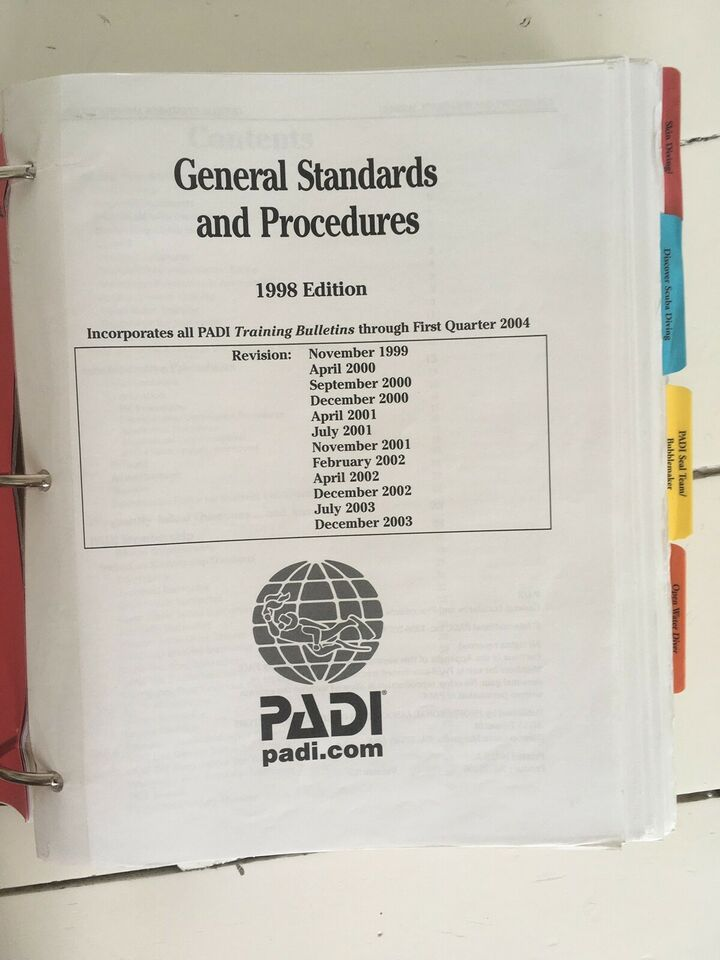 instructor manual PADI
