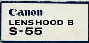 CANON LENS HOOD BS-55 FOR 50MM F1.4 LENS
