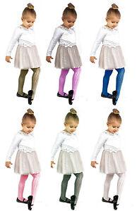 Girls-White-Tights-By-Sentelegri-034-MIA-034-40-Denier-Diamond-Pattern-Age-3-10