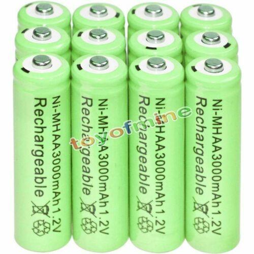 12X AA 3000mah 2a 1.2v Ni-MH Wiederaufladbare NH-AA Zelle Akku Batterien-Grün