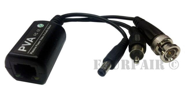 20pcs 10 Pair CCTV Coax BNC Video DC Power RCA Audio Balun Transceiver to CAT5e