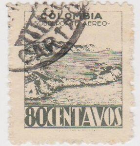 (CO75) 1945 COLOMBIA 80c air grey santa maria ow630