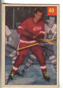 1954-55-Parkhurst-Hockey-Card-40-Glen-Skov-Detroit-Red-Wings-VG-EX