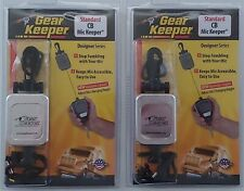 2 Lot Gear Keeper RT2-4712 Retractable Holder CB Radio Microphone Hanger-Chrome