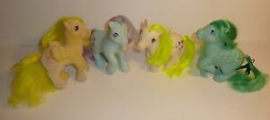 Lot Of 4 Vtg 1980 S My Little Pony Figures Mlp Ponies Pegasus Flocked Twinkleeye Ebay