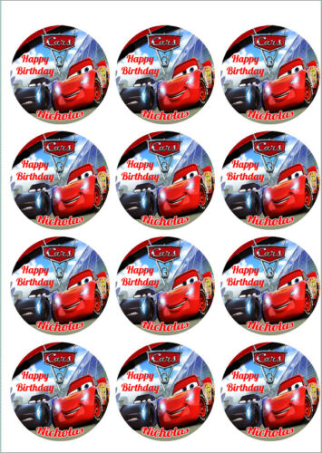 Disney/'s Cars 3 Personalized Edible Print Cake Topper Frosting Sheets 5 Sizes