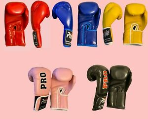 Boxing Gloves Pro Sparring Glove Punch Bag Training MMA Mitts