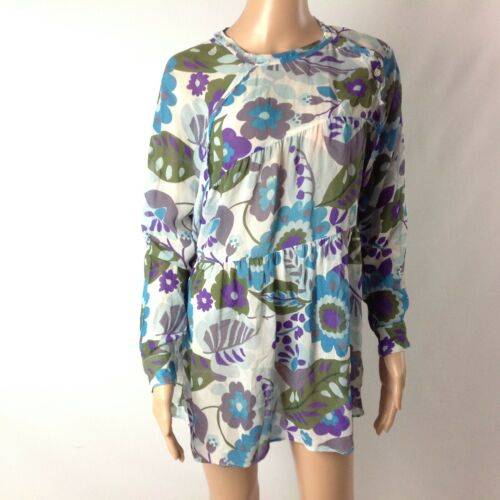 Reformation Women Blouse Tunic Floral Tiered Size
