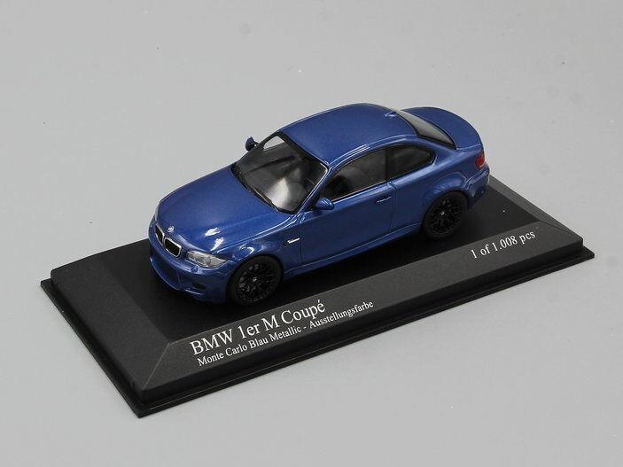 MINICHAMPS 1 43  BMW 1ER COUPE    2011  blueE METALLIC e3cb96