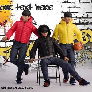 1-6-Stecker-fg040-Daunen-Jacken-Mantel-Kleidung-Anzug-schwarz-gelb-rot-12-034-Koerper-Abbildung
