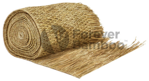 """Forever Bamboo Commercial Grade Mexican Palm Thatch Runner Roll 35/"""" H x 60/' L"""