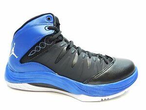 nike prime fly black white blue basketball