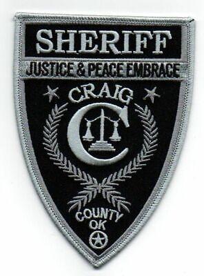 CRAIG COUNTY OKLAHOMA OK SHERIFF POLICE PATCH