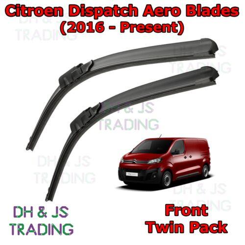 16-19 Citroen Dispatch Aero Wiper Blades//Front plat lame essuie-glaces Van