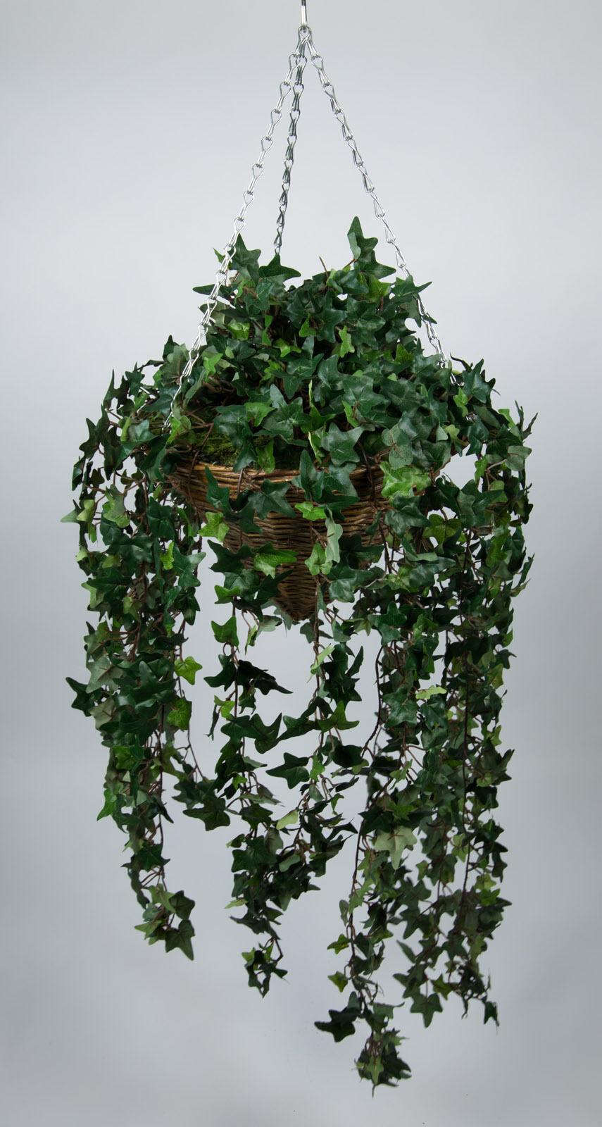 Pflanzampel mit Efeuranke 80cm   120cm DA Kunstpflanzen Hängeampel Ranken