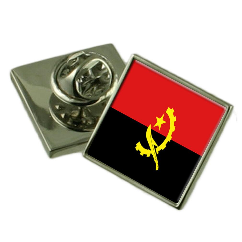 Angola bavero Pin Pin Pin argentoo Sterling 925 BADGE Incisa Personalizzata Scatola 7df77d