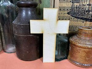 Croix de forme simple en bois tailles multiples croisements bois formes 2.5 CM à 25 cm
