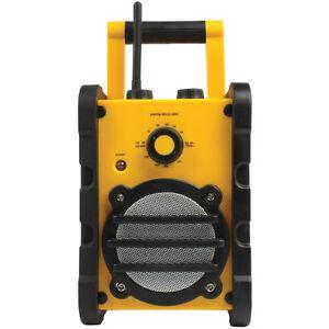 AM-FM-Rugged-Radio-Splash-Proof-AUX-3-5mm-Outdoor-Construction-Work-Site