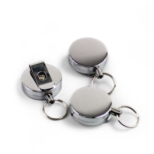 1pc Métal Rétractable Pull Porte-clés ID Badge Lanyard badge porte-carte NEUF