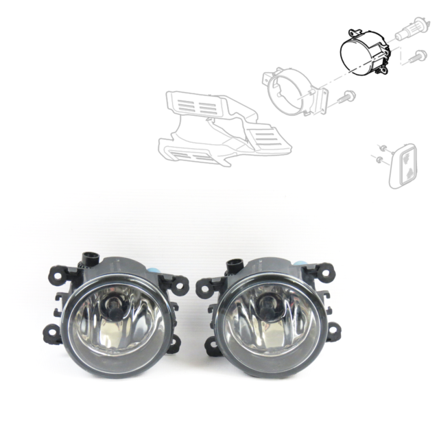 OEM 2 X FORD TRANSIT FOG LAMP / LIGHT SMALL TYPE 2007 & BULB ( PAIR )
