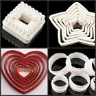 Heart Shape Cake Cookie Biscuit Fondant Sugarcraft Decoration Plunger Cutter New