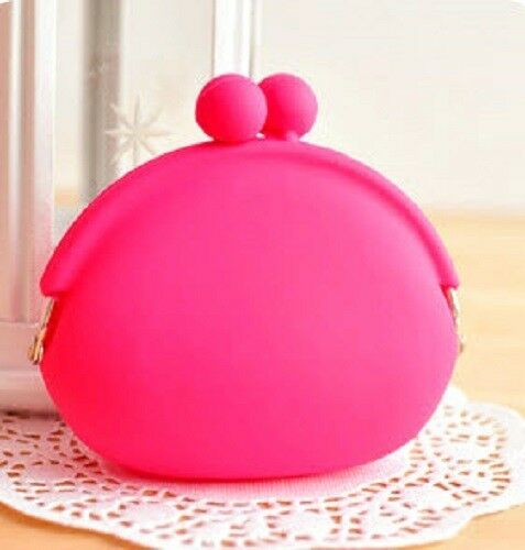 Colorful Candy Girl Korean Rubber Colorful Silicone Coin Bag Purses Wallets