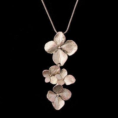 Hydrangea Pendant - Michael Michaud - Silver Seasons Jewelry - Cast Bronze