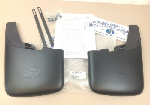 Ford Super Duty Front MUD FLAPS with Wheel Lip Moldings new OEM BC3Z-16A550-GA