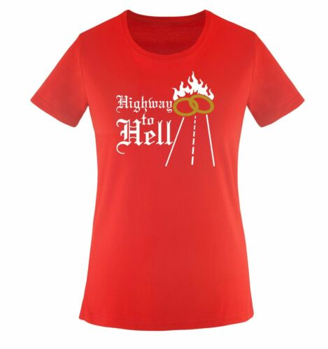 Farben Comedy Shirts Gr HIGHWAY TO HELL XS-XXL Versch Damen T-Shirt