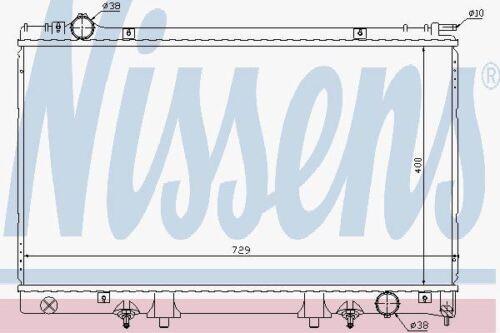 Nissens 645951 Radiator fit LEXUS LS400  95-00