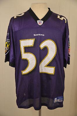 Reebok Baltimore Ravens NFL Replica Jersey #52 Ray Lewis Adult Large Purple | eBay