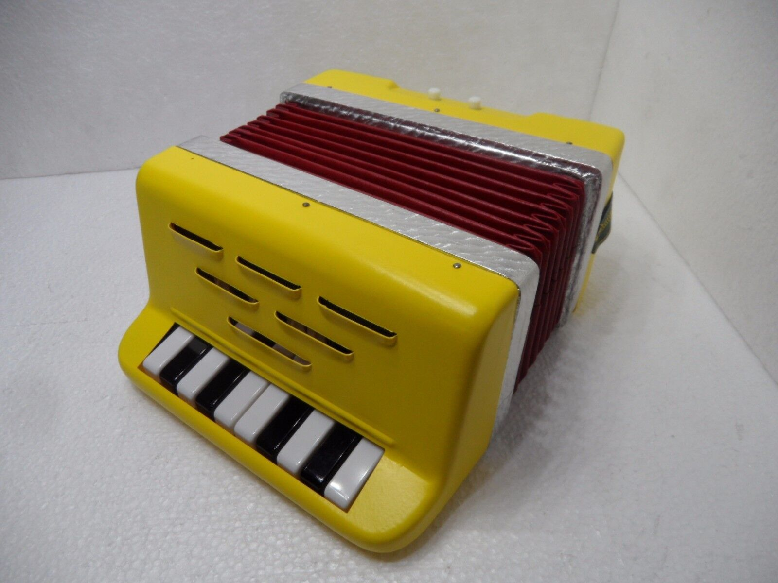 Rare Vintage TOY ACCORDION 55 10 2 w box made in Germany(GDR)
