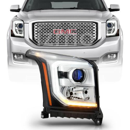 2015-2017 GMC Yukon Halogen LED DRL Projector Headlight Headlamp Passenger Side