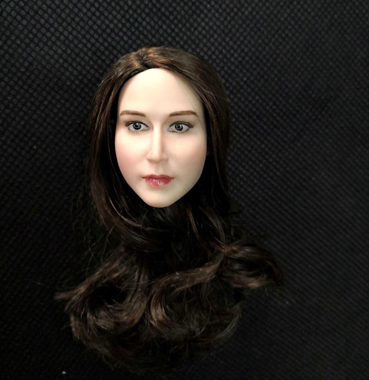 1   6 schönheit europäischen mädchen adele braune haare kopf carving fit 12  blass - körper