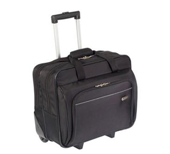 "Targus TBR003US Metro Roller Notebook Bag 16"" Screen Support - Polyester - Black"