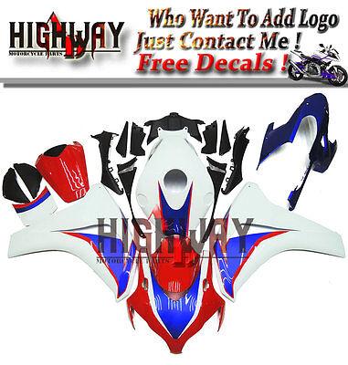 For Honda CBR1000RR 2008-11 Injection ABS Fairings Kit Bodywork HRC Fire blade m