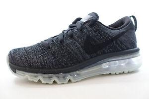 Détails sur FEMMES Nike Flyknit Max Chaussures Noir Gris Anthracite 620659 010 Pdsf