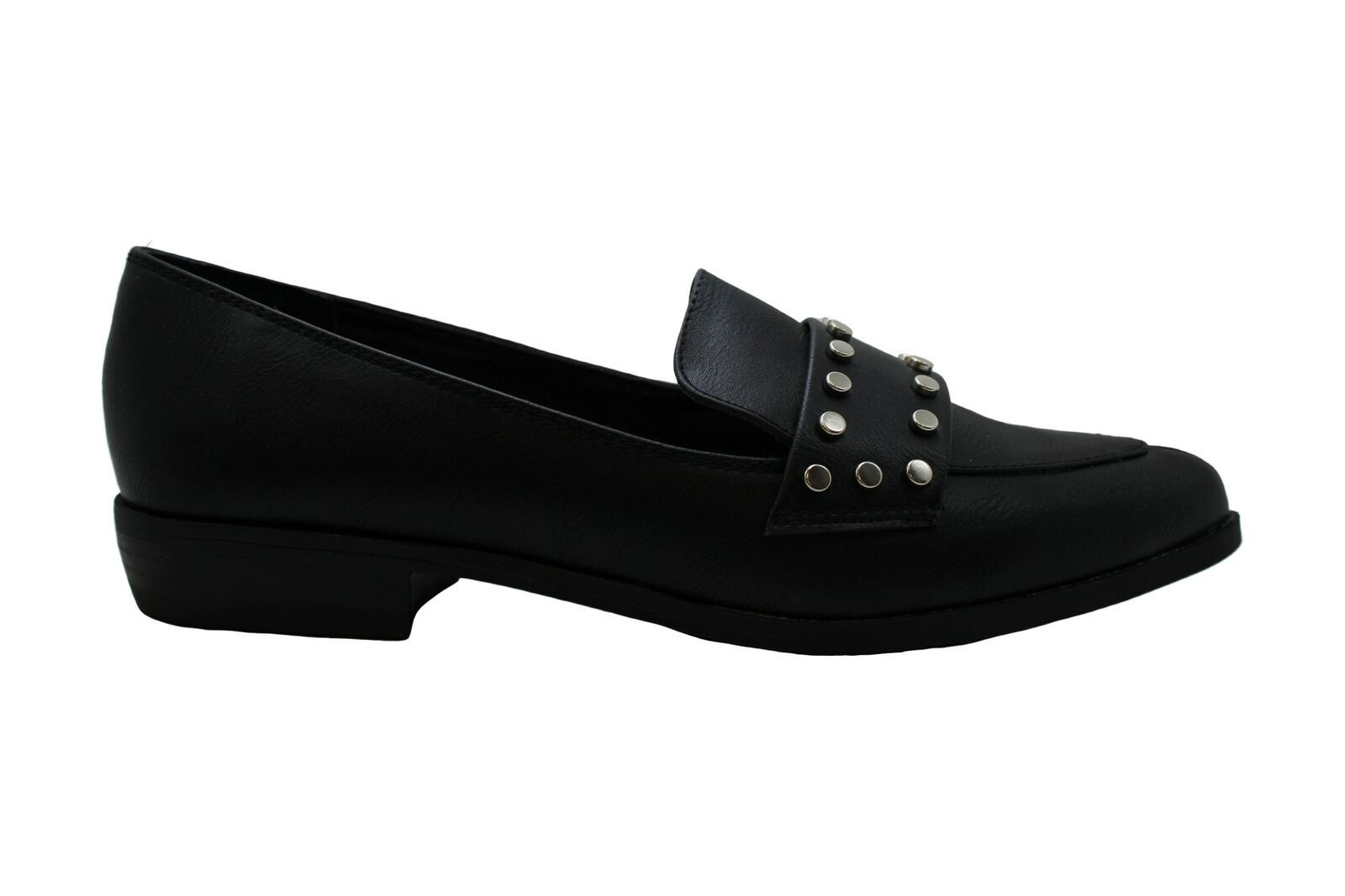 Bar III Womens Involve Pointed Toe Loafers, Black SM, Size 6.5 Ol1f US