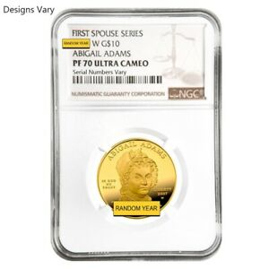 1-2-oz-Gold-First-Spouse-Coins-NGC-PCGS-MS-PF-70-Random-Year