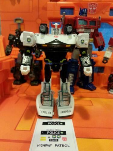 War for Cybertron PROWL DSA G1 style UNCUT STICKER SET for SIEGE